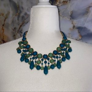 Banana Republic teal and gold tone  necklace